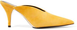 Calvin Klein Roslynn Suede Mules - Saffron