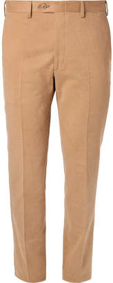 Brioni Slim-Fit Brushed Cotton-Twill Trousers