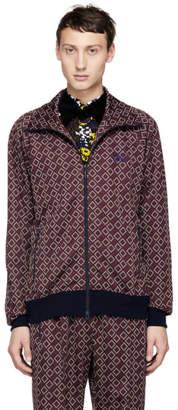 Needles Burgundy Jacquard Block Track Jacket