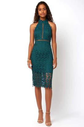 Under Bardot Gemma Sleeveless Halter Lace Dress