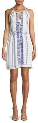 Dex Embroidered Cotton Dress