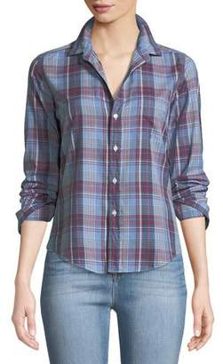 Frank And Eileen Barry Button-Front Cotton Plaid Shirt