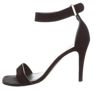 Celine Suede High-Heel Sandals
