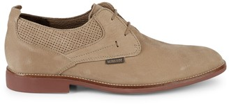 Mephisto Florian Punctured Suede Derby Shoes