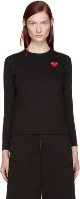 Comme des Garçons Play Black Heart Patch T-Shirt $110 thestylecure.com