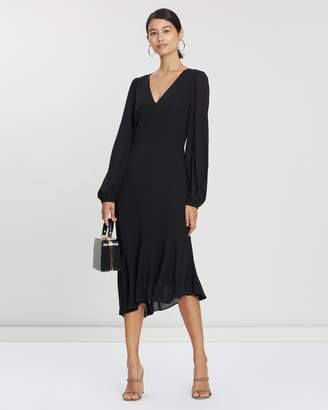Cooper St Reign V-Neck Long Sleeve Asymmetric Dress