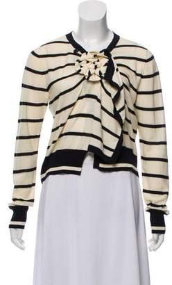 Sonia Rykiel Striped Lightweight Knit Cardigan