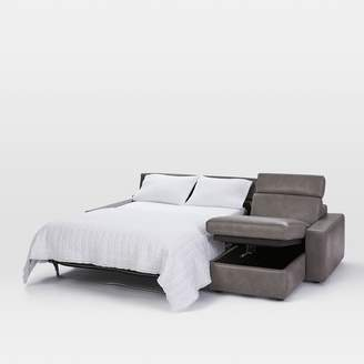 west elm Enzo Leather Full Sleep + Store 3-Seater Sectional
