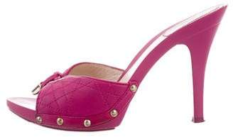 Christian Dior Leather Slip-On Sandals