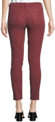 J Brand Jeans 811 Mid-Rise Skinny Corduroy Jeans, Wine