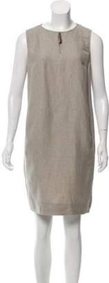 Fabiana Filippi Sleeveless Linen-Blend Dress