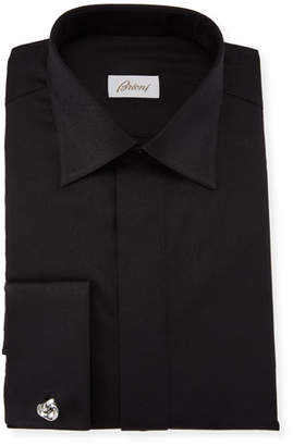 Brioni Men's Paisley Cotton French-Cuff Formal Shirt