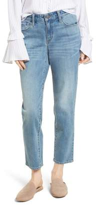 Treasure & Bond Pansy Embroidered Crop Boyfriend Jeans (Granite Light Embroidery)
