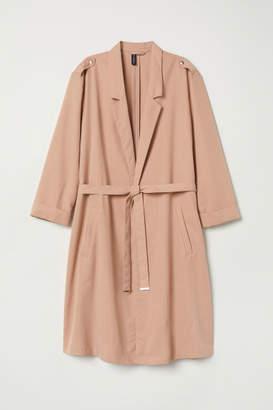 H&M Modal-blend Trenchcoat - Orange