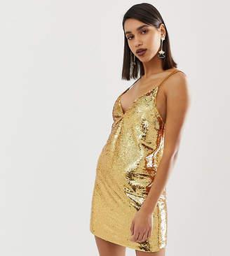 Asos Design DESIGN all over sequin mini cami dress