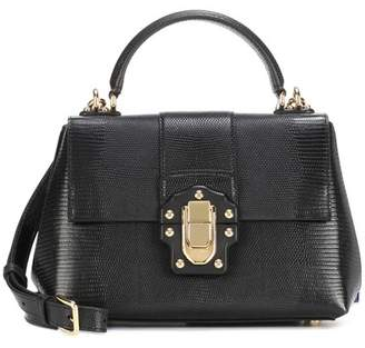 Dolce & Gabbana Lucia Small embossed leather shoulder bag