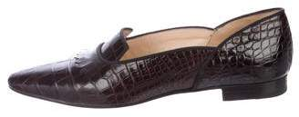 Manolo Blahnik Alligator Kiltie Loafers