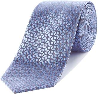 Richard James Mayfair Geo Flower Silk Tie