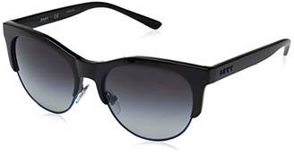 DKNY Women's Injected Woman Sunglass Round