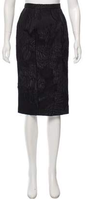 Christian Lacroix Floral Knee-Length Skirt