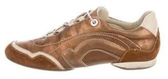 Salvatore Ferragamo Leather Low Top Sneakers