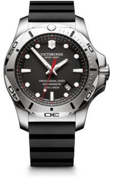 Victorinox I.N.O.X. Professional Diver Black Rubber Strap Watch, 2417331