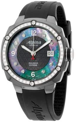 Alpina Avalanche AL240MPBD3FBAEDC6 Black Dial Silicone Strap 45mm Womens Watch