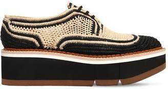 Clergerie 55mm Acajou Raffia Lace-up Shoes