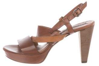 Alberto Fermani Leather Platform Sandals