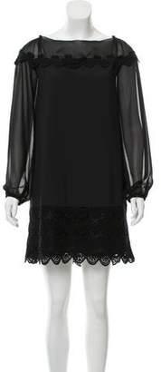 Philosophy di Alberta Ferretti Lace Accented Mini Dress
