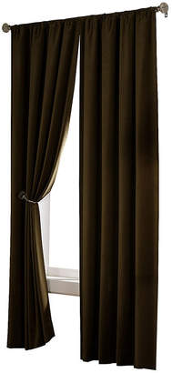 Maytex Mills Velvet Home Theater Blackout Rod-Pocket Curtain Panel