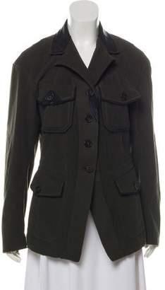 Donna Karan Notched Lapel Button Up Blazer