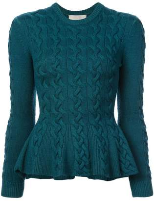 Jason Wu Collection cable knit peplum sweater
