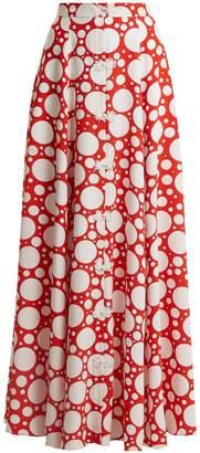 REBECCA DE RAVENEL Lolita polka-dot print button-down skirt