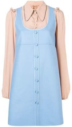 No.21 two-tone shirt dress