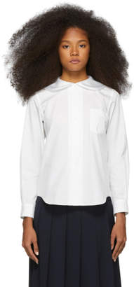 59cc5aaf45 Women s White Shirt With Peter Pan Collar - ShopStyle