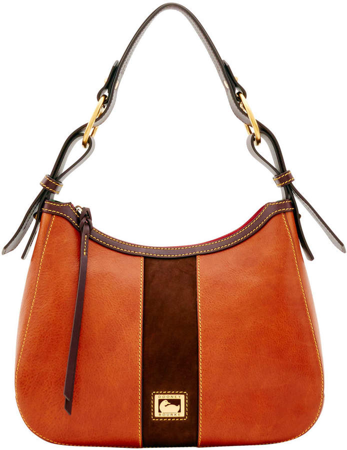 Dooney & Bourke Florentine Suede Riley Hobo - BLACK - STYLE