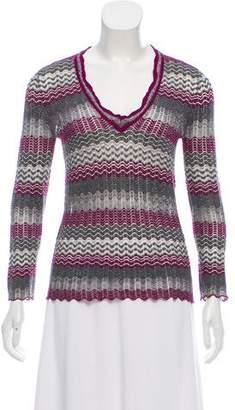 Missoni Patterned Long Sleeve Sweater