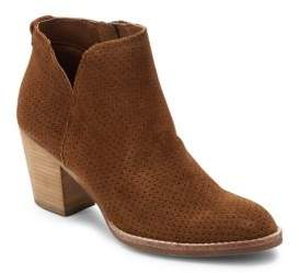 Janae Perforated Leather Ankle Boots $160 thestylecure.com