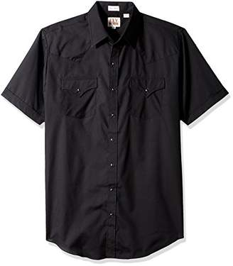 Ely & Walker Men's Tall Size Short Sleeve Solid Western Shirt