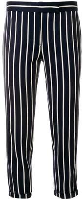 Thom Browne Chenille Banker Stripe Lowrise Skinny Trouser