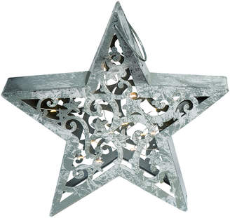Transpac Metal Silver Christmas Light Up Die Cut Star Decor