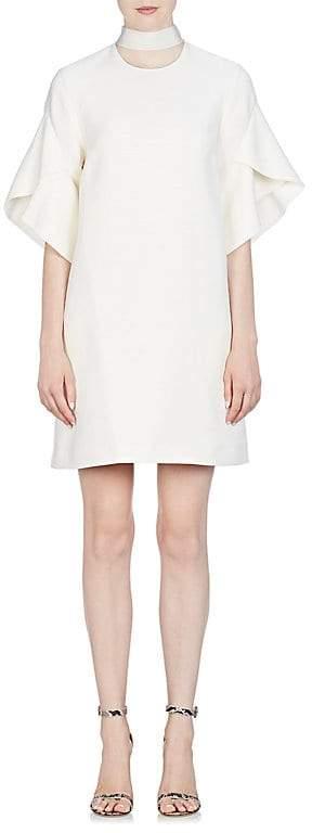 Fendi Women's Tulip-Sleeve Wool-Silk Shift Dress