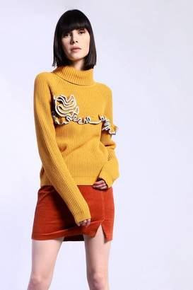 Glamorous **Ruffle Detail Knitted Jumper