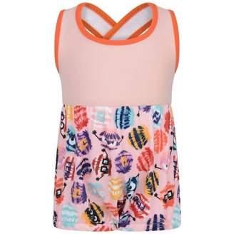 Fendi FendiBaby Girls Pink Bag Bug Print Swimsuit