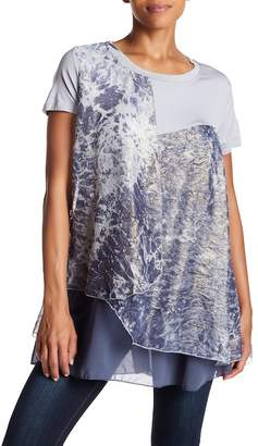 Couture Simply Patterned Layered Hem Tunic
