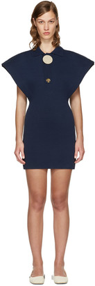 Jacquemus Navy 'Le Long Polo' Dress $670 thestylecure.com