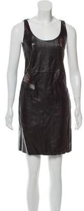 Calvin Klein 2017 Leather Shift Dress w/ Tags