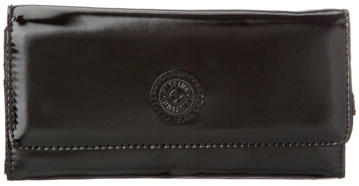 Kipling Brownie Large Organizer Wallet (Black Patent) - Bags and Luggage
