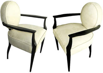 One Kings Lane Vintage French Bridge Armchairs by Dominique - Pr